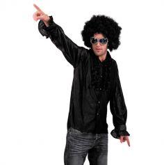 Chemise Star du Disco à froufrous - Noir - Taille au choix
