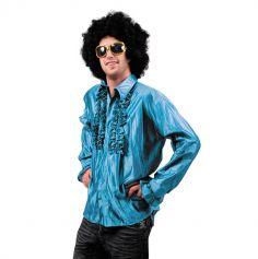 Chemise Star du Disco à froufrous - Turquoise - Taille au choix