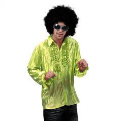 Chemise Star du Disco à froufrous - Vert - Taille au choix