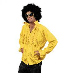 Chemise Star du Disco à froufrous - Jaune - Taille au choix