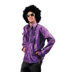 Chemise Star du Disco à froufrous - Violet - Taille au choix