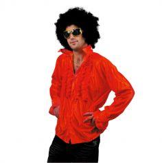 Chemise Star du Disco à froufrous - Rouge - Taille au choix