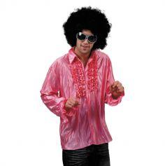 Chemise Star du Disco à froufrous - Rose - Taille au choix