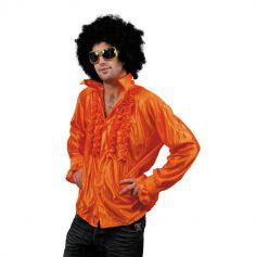 Chemise Star du Disco à froufrous - Orange - Taille au choix
