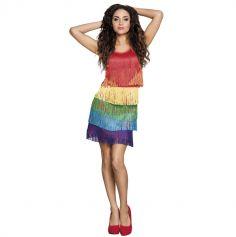 Robe danseuse latine mutlicolore Adulte - Taille M