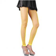 Legging Résille - Jaune Fluo
