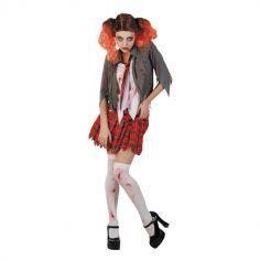 Déguisement Etudiante Zombie Femme - Taille Unique
