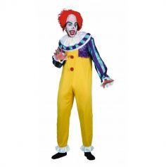 Déguisement Homme - Clown Jaune et Violet - Taille Unique