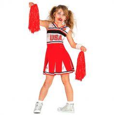 Déguisement de Cheerleader Zombie Enfant - Taille au choix