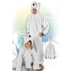 Costume en peluche d'ours polaire - Taille au choix