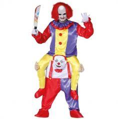 Déguisement Adulte - Clown sur les Épaules - Taille Unique