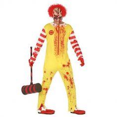 Déguisement Homme - Clown Burger - Taille Unique