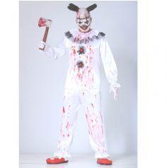 Déguisement Homme - Clown Blanc Effrayant - Taille au Choix