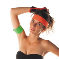 Bandeau 80's - Orange fluo - Adulte