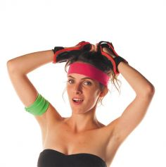 Bandeau 80's - Rose fluo - Adulte
