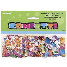 Assortiment de 3 Sachets de Confettis de Fête - Multicolore