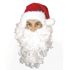 Perruque et Barbe Blanche Bouclée du Père Noël
