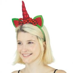 Serre-Tête Adulte - Licorne de Noël