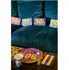 Banderole 90's multicolore 5m - Années 90