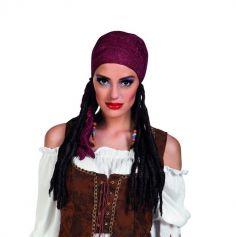 Perruque de Pirate Femme avec Bandana
