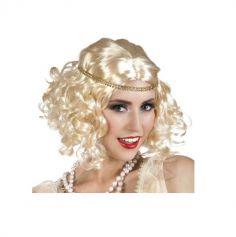 Perruque Charleston Femme Blonde avec Bandeau