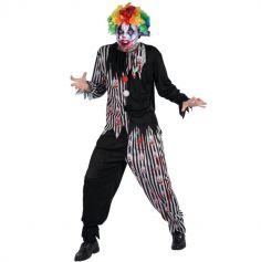 Déguisement Homme - Clown Sanglant - Taille au Choix