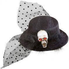 Chapeau Pince Gothique et Crâne
