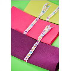 "Ruban ""Joyeux Anniversaire"" en Satin - Multicolore"