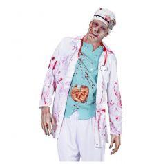 Déguisement de chirurgien zombie - Taille au choix
