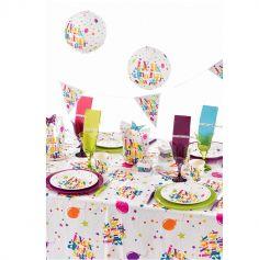"""Nappe """"Joyeux Anniversaire"""" - Multicolore"""