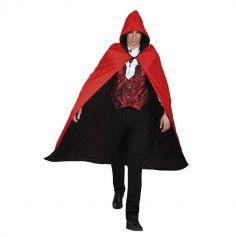 Cape de Vampire Réversible - Noire et Rouge