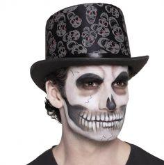 Chapeau halloween tête de mort pour adulte