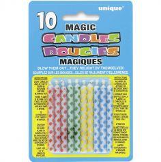 10 Bougies magiques à carreaux