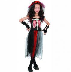Déguisement Fille - Robe Zombie Squelette - Taille au Choix