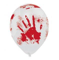 "6 Ballons de Baudruches ""Halloween Sanglant"""