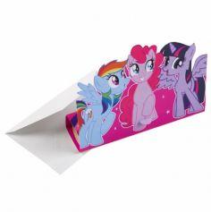 "Sachet de 8 Invitations ""My Little Pony"" avec Enveloppes"