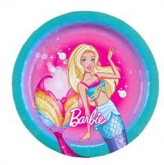 """Sachet de 8 assiettes """"Barbie Dreamtopia"""""""