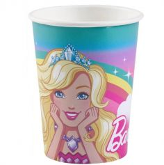"Sachet de 8 Gobelets en carton ""Barbie Dreamtopia"""
