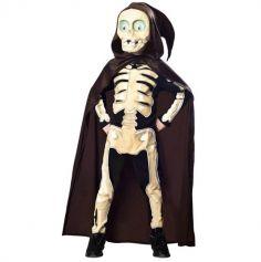 Déguisement Enfant – Squelette Faucheur - Taille au Choix