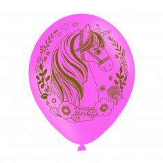 Sachet de 6 ballons Licorne Magique - Rose