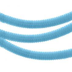 """Petites Guirlandes en Papier """"Boa"""" Bleu Turquoise"""