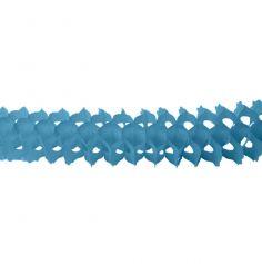 "Guirlande en Papier ""Zinnia"" Bleu Turquoise"