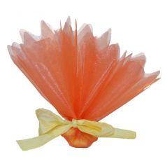 Tulle Cristal Découpé Orange