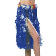 Jupe Hawaïenne Bleue 80 cm