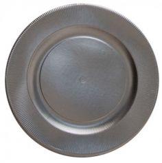 4 Assiettes de Présentation - Argent Satiné - 32,4 cm | jourdefete.com