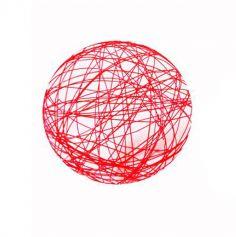 12 Boules en métal – Rouge