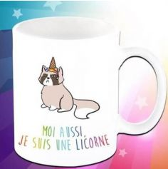 Mug Caticorn Marron