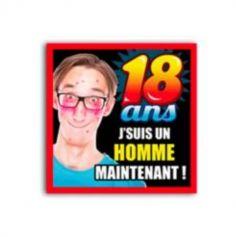 """Préservatif Humoristique """"18 ans j'suis un homme maintenant !"""""""
