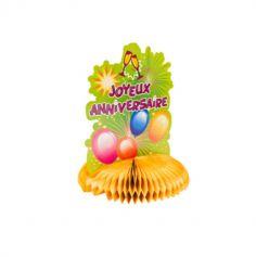 """Centre de Table """"Joyeux Anniversaire"""" - Orange"""
