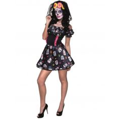 Costume Day Of The Dead Femme - Taille au Choix